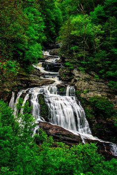 North Carolina Waterfall Photograph Print by EyeLightPhotography