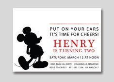 Mickey Mouse Silhouette Birthday Invitation