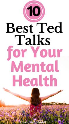 Check out these awesome ted talks that will help improve your mental health! Save this post for anytime you need an idea for which Ted Talk to watch. and wellness 10 Best Ted Talks For Your Mental Health Wellness Tips, Health And Wellness, Health Tips, Health Fitness, Fitness Hacks, Health Recipes, Health Foods, Good Mental Health, Mental Health Awareness