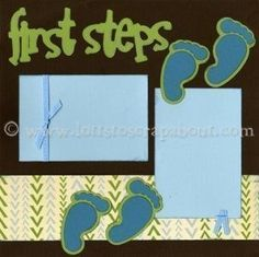 Scrapbook Babys First Steps. Im not buying the page, but its a great idea I can make myself! #firstscrapbooksteps #babyscrapbooks Bridal Shower Scrapbook, Baby Girl Scrapbook, Baby Scrapbook Pages, Birthday Scrapbook, Kids Scrapbook, Scrapbook Page Layouts, Scrapbook Supplies, Pregnancy Scrapbook, Paper Bag Scrapbook