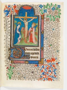 Portrayal of the Crucifixion of Christ in a 15th century manuscript by Virtual Manuscript Library of Switzerland