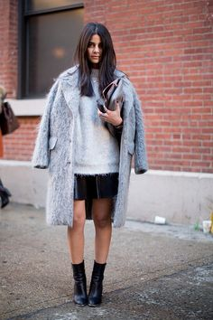 What every girl needs for Winter: a grey coat.
