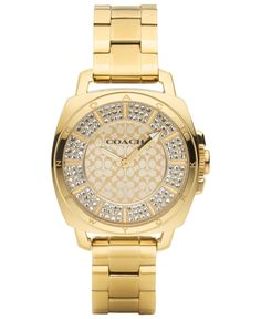 27921f7535e4 Coach Women s Boyfriend Gold-Plated Bracelet Watch 34mm 14501994