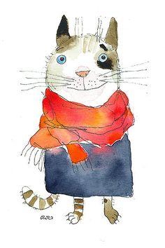 Сообщество иллюстраторов / Иллюстрации / Атрахович Настасья (ozozo) / утепленный кот