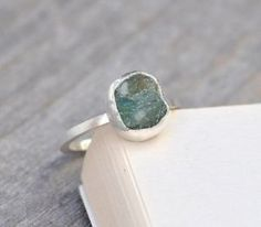 Handmade-Raw-Uncut-Green-Emerald-May-Birthstone-Ring-Over-2ct-Emerald