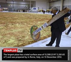Fact of the day: largest pizza in the world
