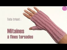 ▶ Snood en point mousse oblique bicolore : le tuto - YouTube