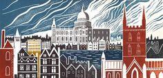 Ed Kluz Restoration London Tea Towel Gifts For Art Lovers, Lovers Art, Historical Architecture, Tea Towels, Illustration Art, Illustrations, Screen Printing, Restoration, Fine Art