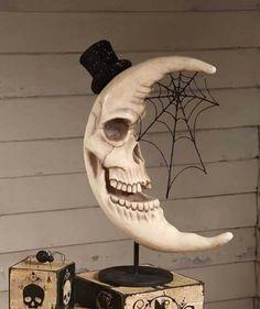 Haunted skeleton moon