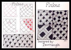 Zentangle : Tangle Pattern : Flukes