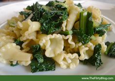 Easy Kale & Campanelle Pasta with Balsamic Vinegar by theflirtyguide #Pasta #Kale