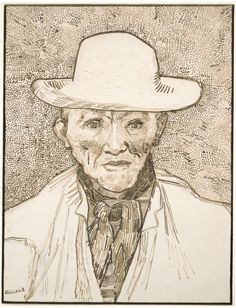 Vincent van Gogh, Peasant of the Camargue 1888 / Brown ink over graphite on white wove paper / Harvard Art Museums/Fogg Museum