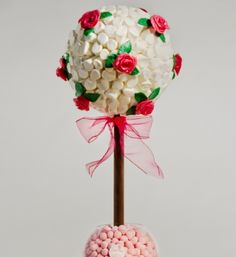 65cm Mallow Sweet Tree with hand made edible roses
