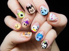 Add eyebrows to the nails Nail art ideas. Add eyebrows to the nails - -Nail art ideas. Add eyebrows to the nails - - Nail Art Disney, Disney Nail Designs, Cute Nail Designs, Acrylic Nail Designs, Nail Designs For Kids, Disney Princess Nails, Cute Nail Art, Cute Nails, Chalkboard Nails