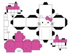 Hello Kitty Cubee Template by EliseIsVain on deviantART