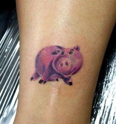 So funny! Ham toy story tattoo