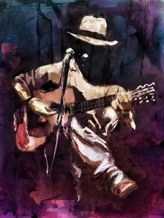 Digital Art by Marius Markowski from Switzerland Music Painting, Music Artwork, Painting Art, Art And Illustration, Jazz Art, Guitar Art, Blue Art, African Art, Art Pictures