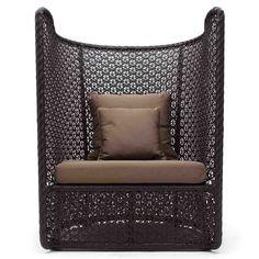 观唐潘杰原创设计梵花 米字藤编现代中式休闲单人沙发 配抱枕靠垫