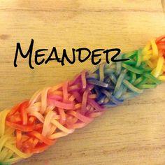 NEW Meander Rainbow Loom Bracelet
