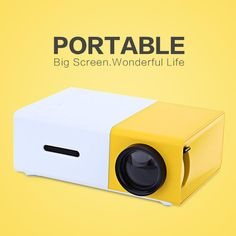 MiniHD Innovative and Portable Bright Projector (iPhone, Android, PC, HDMI)
