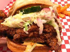 Nashville Hot Chicken Sandwich [OC] #recipes #food #cooking #delicious #foodie #foodrecipes #cook #recipe #health