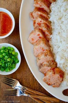 Starring a sweet chili sauce, this simple and flavor-packed roast pork tenderloin will be on your dinner table in 30 minutes or less.