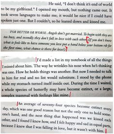 """quotes from """"The History of Love"""" by Nicole Krauss"""