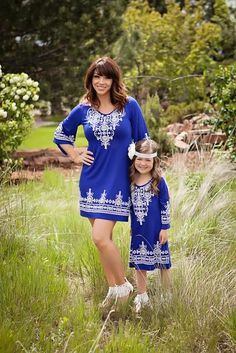 Matching Mommy & Daughter Bohemian Dress