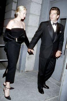 #vintage Carolyn Bessette Kennedy and John F. Kennedy Jr CBK and JFK Jr ~ The rules of a Calvin Klein minimalist via Harper's Bazaar #classic