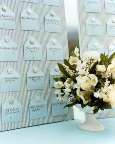 wedding seating cards using mini envelopes