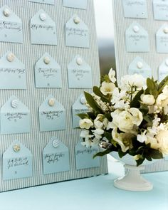 DIY rock candy champagne glass seating cards Diy Wedding