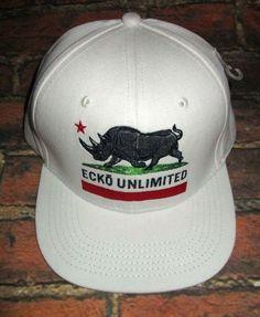 0e3c75c9080 MENS ECKO UNLTD HAT RHINO OFF WHITE SNAPBACK ADJUSTABLE CAP ONE SIZE   fashion  clothing