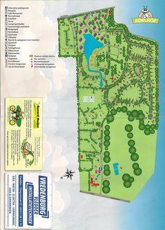 Plattegrond van het recreatiepark