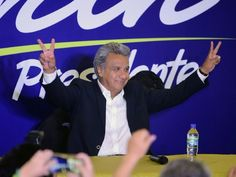 Exit polls show leftist Lenin Moreno is leading Ecuador's first round presidential vote