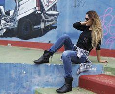Look com camisa xadrez http://www.dicasdeamiga.com/2014/04/meu-look-jeans-e-camisa-xadrez.html