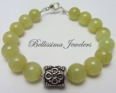 Stackable Bracelet, Natural Jade Beaded Jewelry, Mix and Match Colors for a One of a Kind Look via Etsy