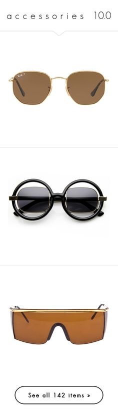 """a c c e s s o r i e s   10.0"" by ajs2001 ❤ liked on Polyvore featuring accessories, eyewear, sunglasses, glasses, ray ban sunnies, ray ban sunglasses, ray ban glasses, ray ban eyewear, square sunglasses and round glasses"