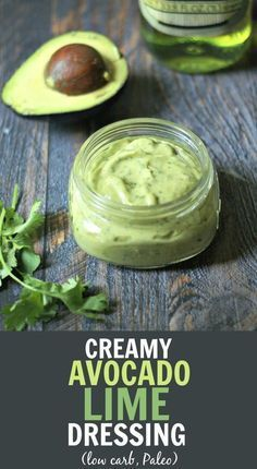 Creamy Avocado Lime Dressing - low carb, Paleo dressing that can be used with ch. Creamy Avocado Lime Dressing - low carb, Paleo dressing that can be used with chicken and fish too! Great on tacos. # Creamy Avocado Lime Dressing - My Life Cookbook Healthy Food Recipes, Mexican Food Recipes, Vegetarian Recipes, Cooking Recipes, Yummy Food, Recipes Dinner, Paleo Fish Recipes, Healthy Foods, Cooking Tips