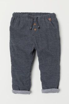 Lined Corduroy Pants - Dark gray - Kids Little Boy Fashion, Kids Fashion Boy, Fashion Hats, Fashion Wear, Womens Fashion, Fashion Trends, Toddler Boy Outfits, Cute Outfits For Kids, Girl Toddler