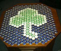 Shamrock bottle cap table