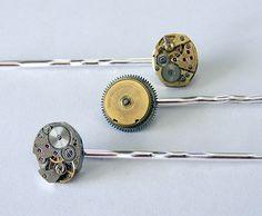 steampunk hair pins