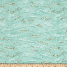 Sea of Tranquility Inspiring Words Green Fabric By The YD by MM Fab, http://www.amazon.com/dp/B00CF4N3S0/ref=cm_sw_r_pi_dp_NmcNrb0G4M1VG