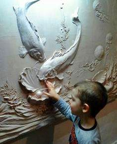 artistic painting of the wall Plaster Sculpture, Plaster Art, Wall Sculptures, Sculpture Art, Plaster Crafts, Mural Art, Wall Murals, Photos Booth, Tadelakt