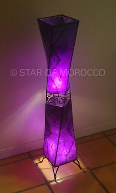 Moroccan Purple Lamp!  I love it! In red and blue would be nice too