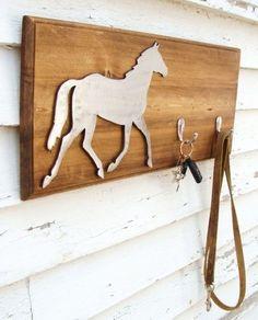Horse Key Hook Organizer Wall Art Decor Woodland Modern Simple Home Decor