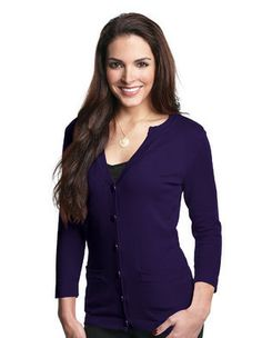 Bare Clothes - Isabella Women's 82% cotton/18% nylon ¾-sleeve cardigan sweater, $46.50 (http://www.bareclothes.com/isabella-womens-82-cotton-18-nylon-sleeve-cardigan-sweater/)