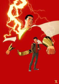 Power of Shazam Shazam Comic, Captain Marvel Shazam, Marvel Vs, Marvel Dc Comics, Dc Comics Characters, Dc Comics Art, Mary Marvel, Comic Art, Comic Books
