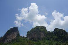 Krabi, mountains, southern thailand.
