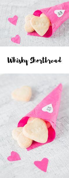 Leckeres Shortbread mit Whisky - ein perfektes DIY Geschenk zum Valentinstag oder Vatertag