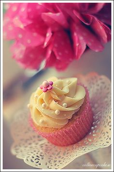 Raspberry and white chocolate by Call me cupcake, via Flickr
